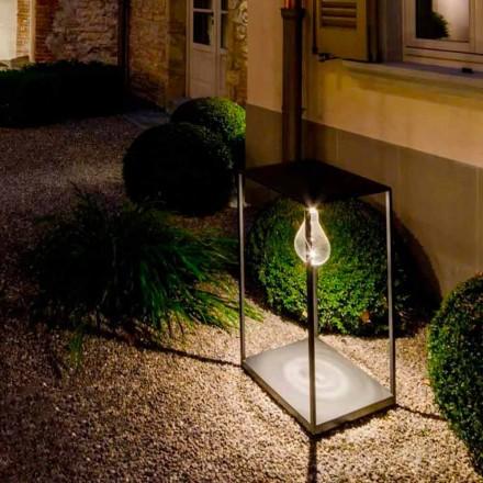 Handgemaakte ijzeren buitenlamp met geïntegreerde LED Made in Italy - Cubola