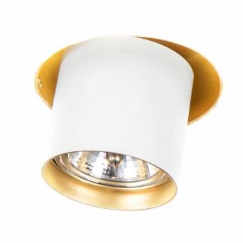 Artisan inbouwlamp in verstelbaar aluminium Made in Italy - Adra