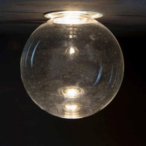 Aluminium inbouwlamp met decoratief glas gemaakt in Italië - Ampolla