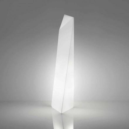 Moderne witte prisma vloerlamp Slide Manhattan, gemaakt in Italië