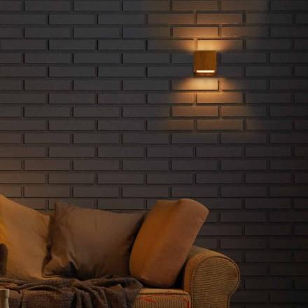 Lamp ontwerp muur in messing en staal 11xH11xsp.10 cm Venus