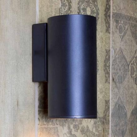 Handgemaakte cilindrische ijzeren wandlamp Made in Italy - Gemina