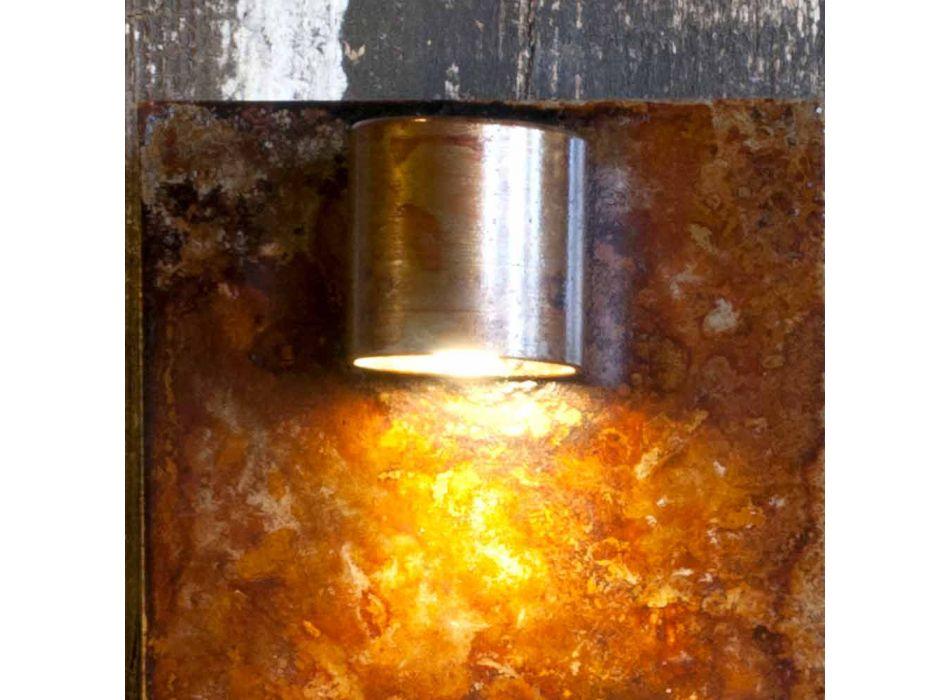 Artisanale wandlamp in ijzeren Corten-afwerking Made in Italy - Cialda