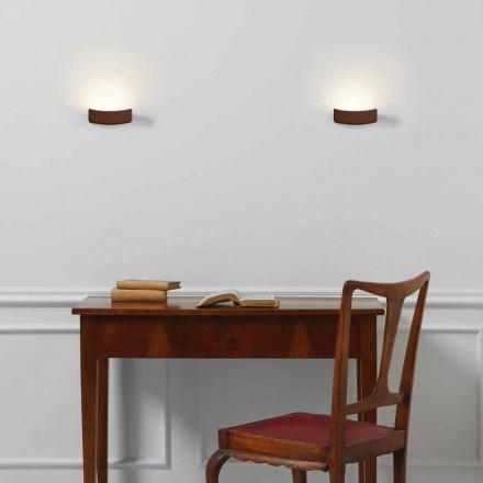 Lamp modern design stalen wand 13xH 3.5x Sp.10 cm Osea