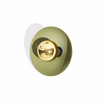 Moderne design wandlamp van metaal met gouden decoratie Made in Italy - Valta