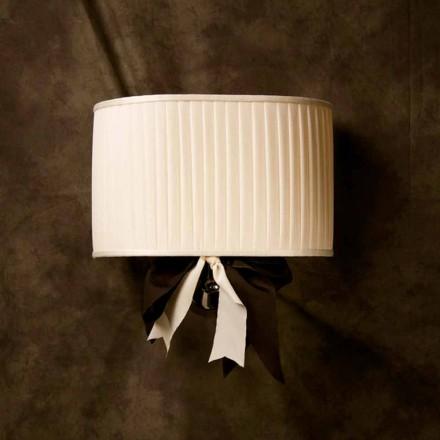 Chanel vintage design wandlamp in ivoor zijde