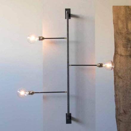 Design wandlamp met zwart ijzeren structuur Made in Italy - Anima