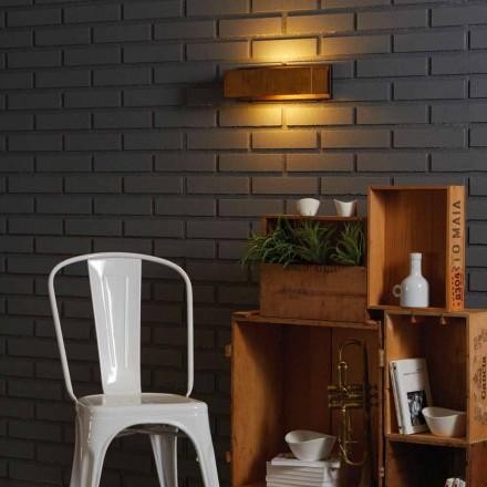 Lamp ontwerp muur van messing en roestvrij 35xH 10xsp.9 cm Harya