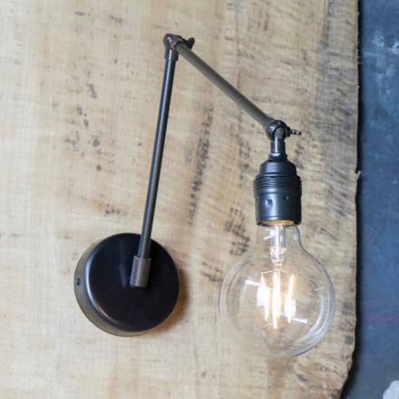 Handgemaakte wandlamp in verstelbaar zwart ijzer Made in Italy - Ander