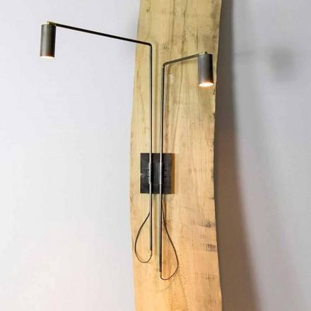 Wandlamp in ijzer en artisanaal aluminium Made in Italy - Gemina