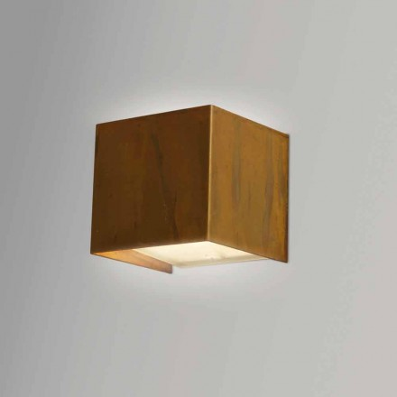 Wandlamp in modern design Brass 9x 9x H sp.9 cm Venus