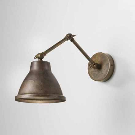 Verstelbare wandlamp ijzer loft Il Fanale