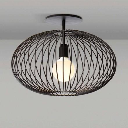 Moderne plafondlamp in gelakt staal, 48xH 35 cm, Heila