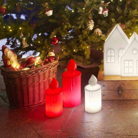 Witte of rode lichtgevende kaars tafellamp Design by Slide - Fiammetta