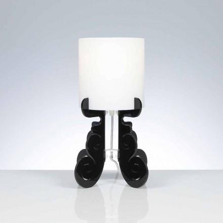 Tafellamp met een cilindrische lampenkap, diameter 18,5 cm, Samanta