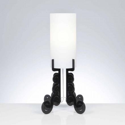 Tafellamp met een cilindrische lampenkap, diameter 26,5 cm, Samanta