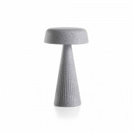 Tafellamp met structuur in polyethyleen Made in Italy - Desmond