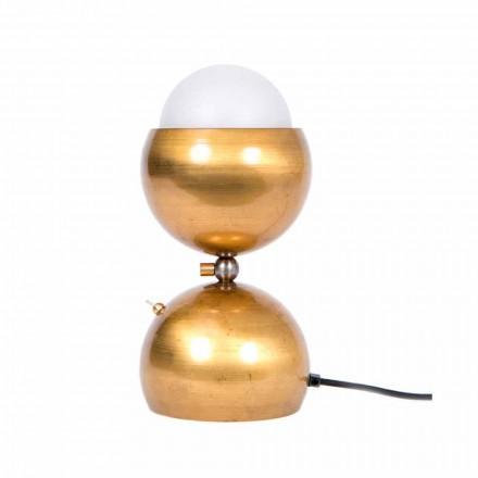 Handgemaakte design tafellamp in messing en glas gemaakt in Italië - Gandia