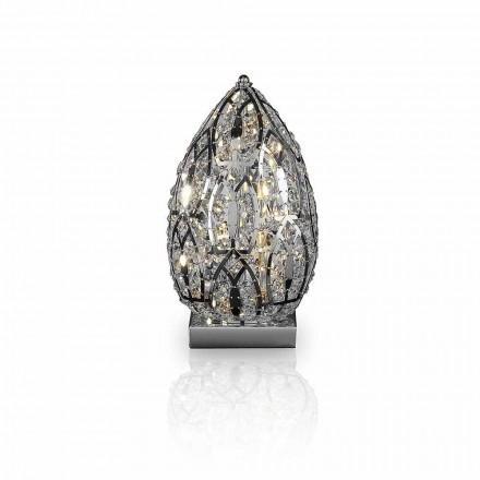 Design tafellamp in kristal en staal gevormd Egg Egg