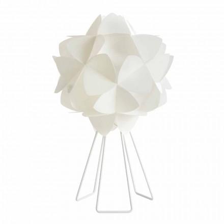 Tafellamp modern parel wit ontwerp, diameter 46 cm Kaly