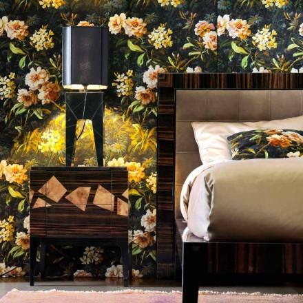Tafellamp van massief hout ontwerp Grilli Zarafa maakte Italië