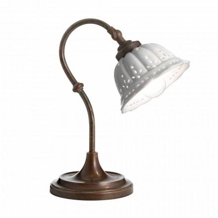 Lamp Art Nouveau keramische tafel Anita Il Fanale