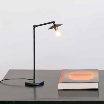 IJzeren tafellamp met verstelbaar licht Made in Italy - Amino