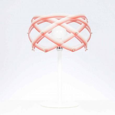 Lamp methacrylaat tafel met nuance affiches, diam.40 cm, Vanna