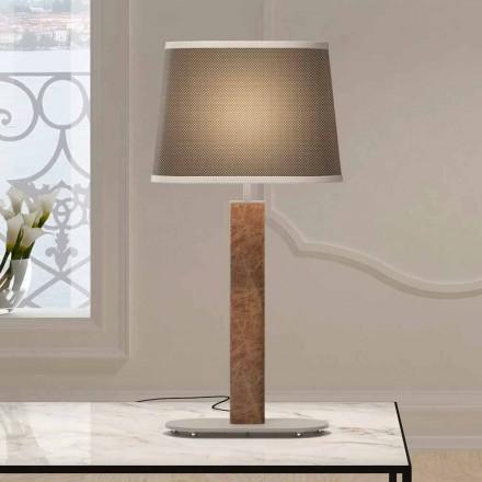 Metalen tafellamp met stoffen lampenkap Made in Italy - Jump