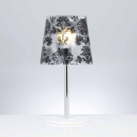 Polycarbonaat tafellamp met decoraties, diameter 30 cm, Mara