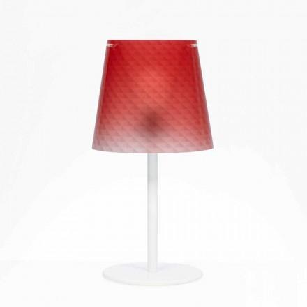 Polycarbonaat lamp tafel, diamant decoratie, Rania diam. 30 cm