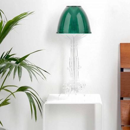 Liberty design lees / tafellamp met plexiglazen voet, Caneva