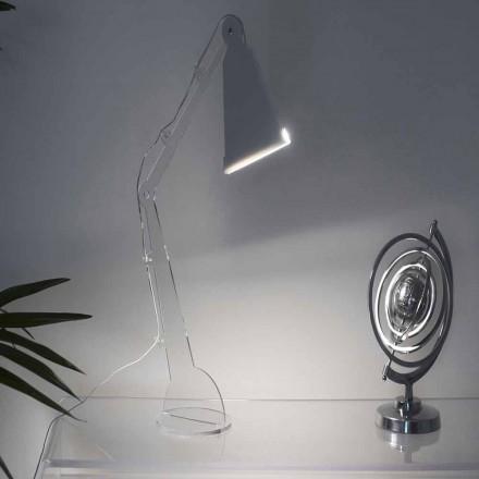 Tafel- / leeslamp in Tecno-stijl met LED-verlichting, Flero