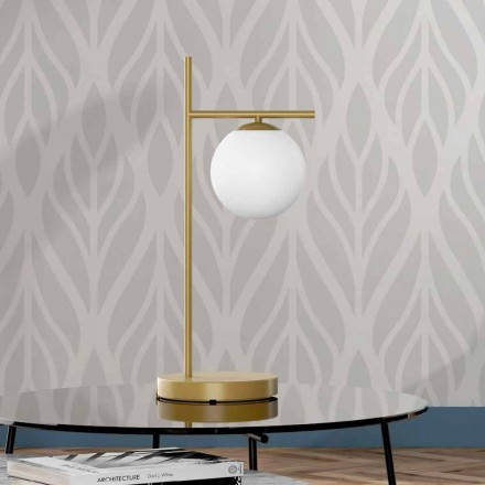 Moderne tafellamp in messing en glas gemaakt in Italië - Carima