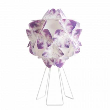 Hedendaagse tafellamp in witmetaal, diameter 46 cm, Kaly