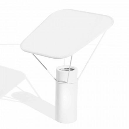 Moderne tafellamp in hars en wit katoen Made in Italy - Fiera