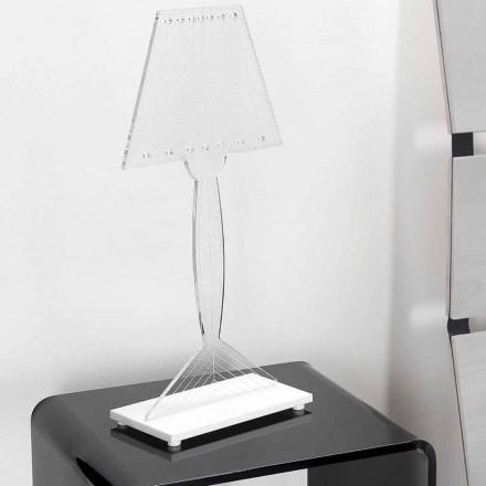 Gegoten tafellamp in plexiglas, LED-licht, Ferla