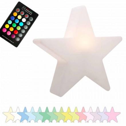 Tafellamp op zonne-energie of LED, sterontwerp in polyethyleen - Ringostar