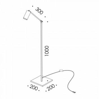 Ambachtelijke vloerlamp in natuurlijk messing met LED Made in Italy - Agio