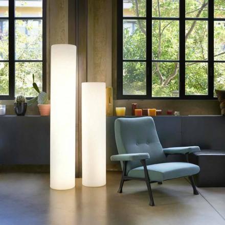 Slide Fluo cilindrische vloerlamp gemaakt in Italië