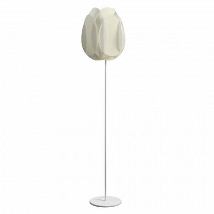 Floor lamp met parelwitte lampenkap, diam.40xH195 cm, Lora