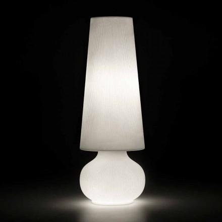 Vloerlamp voor buiten met structuur van polyethyleen Made in Italy - Desmond