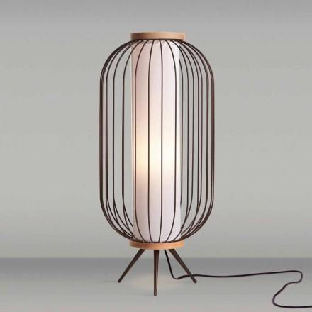 Vloerlamp modern design in roestvrij staal cm diameter 37xH80 Fanny