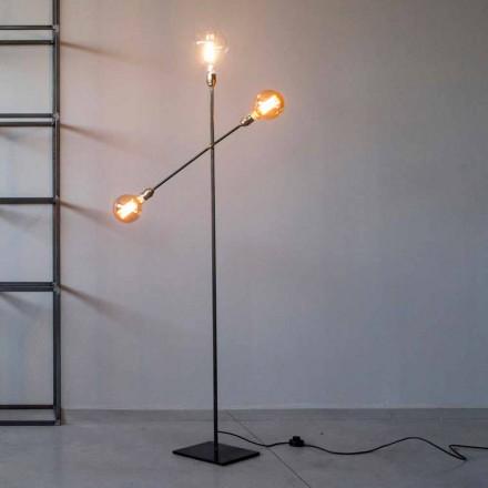 Design vloerlamp van ijzer met verstelbare verlichting Made in Italy - Melita
