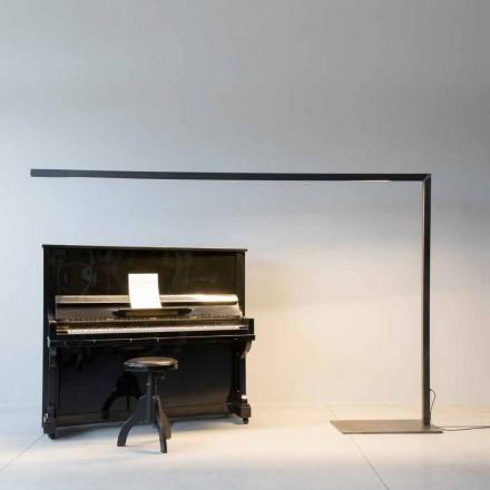 Design vloerlamp in zwart ijzer met LED-balk Made in Italy - Barra