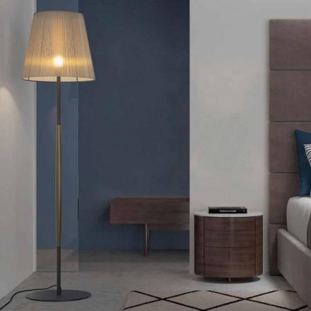 Design vloerlamp in metaal, hout en organza Made in Italy - Boom