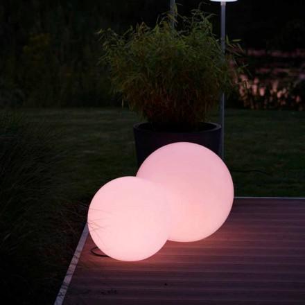 Meerkleurige led-vloerlamp in wit polyethyleen, rond ontwerp - Globostar