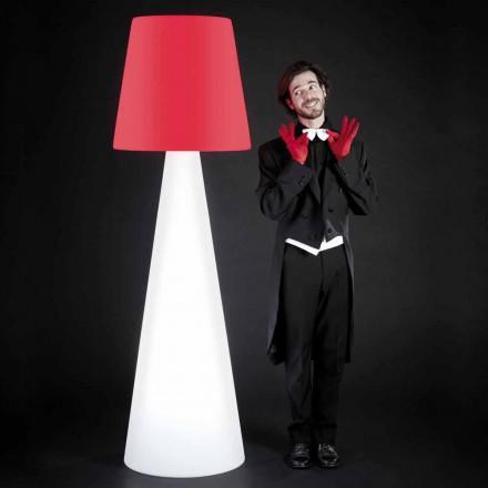 Slide Pivot design witte vloerlamp, gemaakt in Italië