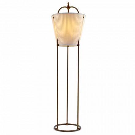 Floor lamp Tenarunga, antiek messing, 1 licht