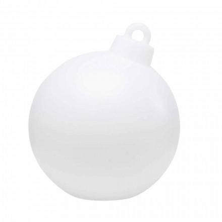 Decorlamp voor binnen of buiten rood, witte kerstbal - Pallastar